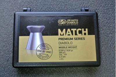 Пули для пневматики JSB Match Premium Middle 4, 5мм 0, 520гр (200шт)