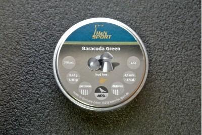 Пули для пневматики H&N Barracuda Green 4, 5 мм 0, 42г (300 шт)