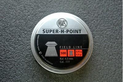 Пули для пневматики RWS Super-H-Point 4, 5мм 0, 45гр (500шт)