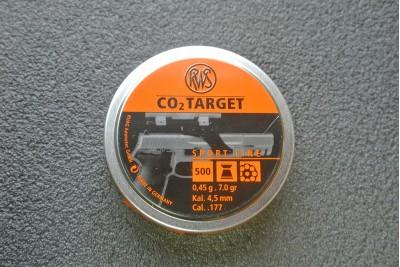 Пули для пневматики RWS CO2 Target 4, 5мм 0, 45гр (500шт)