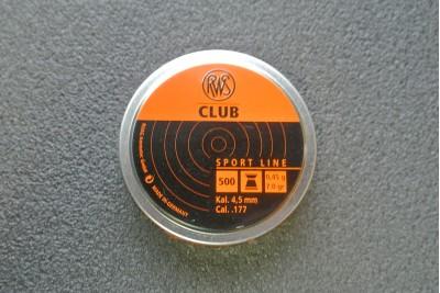 Пули для пневматики RWS Club 4, 5мм 0, 45гр (500шт)