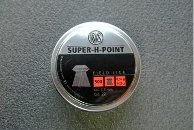 Пули для пневматики RWS Super-H-Point 5, 5мм 0, 92гр (500шт)