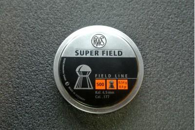 Пули для пневматики RWS Super Field 4, 5мм 0, 54гр (500шт)