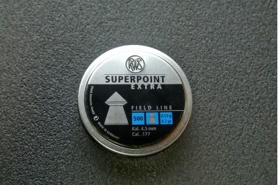 Пули для пневматики RWS Superpoint Extra 4, 5мм 0, 53гр (500шт)