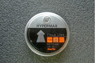 Пули для пневматики RWS Hypermax 5, 5мм 0, 64гр (150шт)