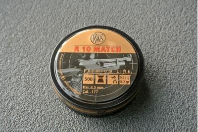 Пули для пневматики RWS R10 MATCH, 4, 5мм 0, 53 гр (500шт)