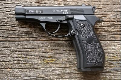 Пистолет пневматический Stalker S84 (аналог Beretta 84) 4, 5мм ( черный)