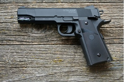Пистолет пневматический Stalker S 1911G (аналог Colt 1911) 4, 5мм (пластик, черный)