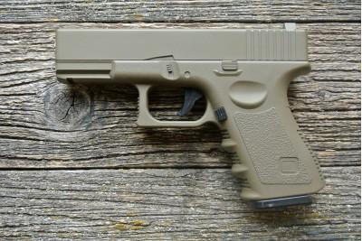 Пистолет страйкбольный Glock 17 Galaxy G.15 песочный кал. 6мм