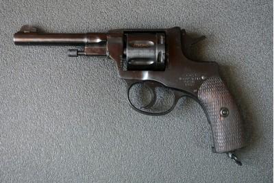 Оружие списанное охолощенное Р-412 револьвер НАГАН кал. 10ТК 20-х годов