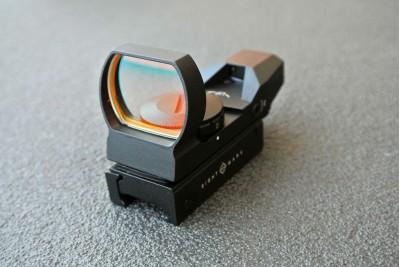 Прицел коллиматорный Sightmark панорамный, 4 марки, крепление на Weaver