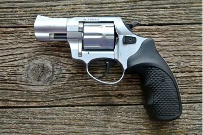 Револьвер сигнальный Zoraki LOM-S 5, 6 мм ХРОМ, металл. барабан
