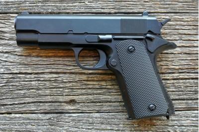 Пистолет страйкбольный Galaxy G.18.6 (Colt  1911) кал. 6мм с глушителем