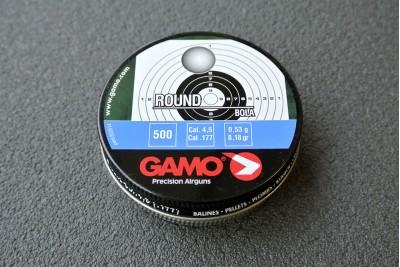 Пули (шарики) для пневматики GAMO Round 4, 5мм 0, 53гр (500 шт)