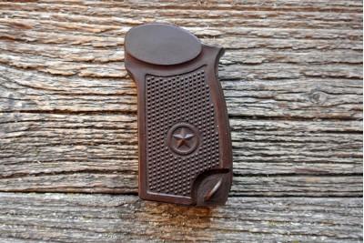 Рукоять коричневая к ПМ софттач покрытие