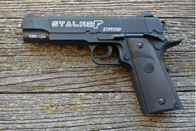 Пистолет пневматический Stalker S 1911RD (аналог Colt 1911) 4, 5мм (мет/пласт, черный)