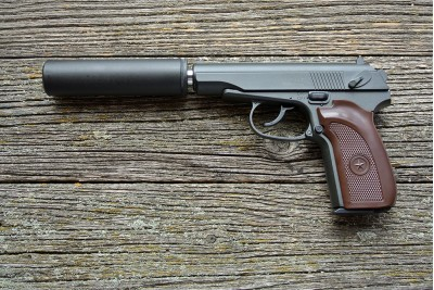 Пистолет пневматический Stalker SAPS (аналог PM) +модератор, кал. 6мм