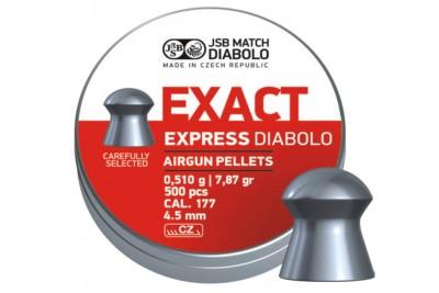 Пули для пневматики JSB Exact Express Diabolo 4, 5мм 0, 51гр. (500шт)