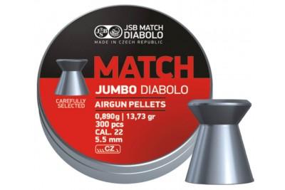 Пули для пневматики JSB Exact Jumbo Match 5, 50мм 0, 89г (300шт)