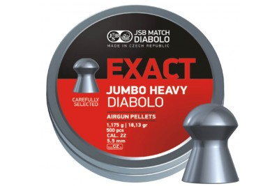 Пули для пневматики JSB Exact Jumbo Heavy Diabolo 5, 52мм 1, 175г (500шт)
