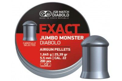 Пули для пневматики JSB Exact Jumbo Monster Diabolo 5, 52мм 1, 645г (200шт)