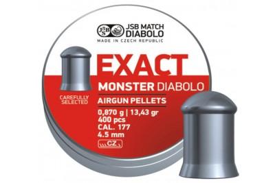 Пули для пневматики JSB Exact Monster Diabolo 4, 5мм 0, 87гр. (400шт)