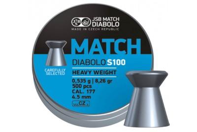 Пули для пневматики JSB Match Diabolo S100 4, 5мм 0, 535г (500шт)