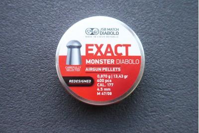 Пули для пневматики JSB Exact Monster Diabolo Redesigned 4, 5мм 0, 87гр. (400шт)