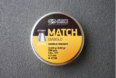 Пули для пневматики JSB Match Diabolo Middle 0, 52гр. кал. 4, 5мм (500шт)