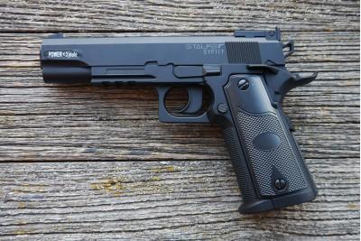 Пистолет пневматический Stalker S 1911T (Colt 1911) 4, 5мм (пластик, черный)
