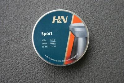 Пули для пневматики H&N Sport 4, 5мм 0, 53гр. (500 шт)