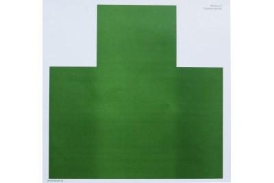 Мишень №6 грудная зеленая 500*500мм 60гр.