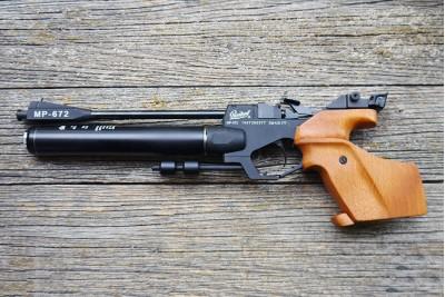 Пневматический пистолет МР-672-02 спортивный кал. 4, 5мм  до 7, 5 Дж