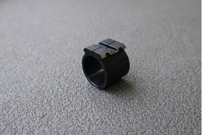 Хомут стяжной на удлинитель МР-654, с планками для установки прицела (вивер, ласт. хвост)