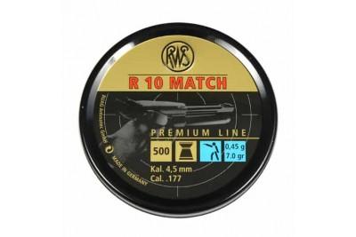 Пули для пневматики RWS R10 MATCH, 4, 5мм 0, 45 гр (500шт)