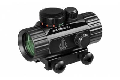 Прицел коллиматорный Leapers UTG New Gen 1x30 закрытый на Weaver, подсветка точка (SCP-RD40RGW-A)