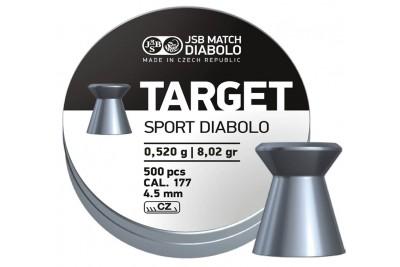 Пули для пневматики JSB Target Sport Diabolo 4, 5мм 0, 52гр. (500шт)