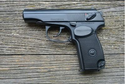 Пистолет Макарова Р-411 охолощенный, кованый затвор  (2019г)