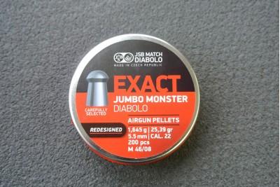 Пули для пневматики JSB Exact Jumbo Monster Diabolo Redesigned 5, 52мм 1, 645г (200шт)