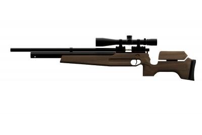 Пневматическая винтовка PCP ATAMAN M2 Sport Match (Орех) кал. 5, 5мм (1615/RB)