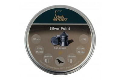 Пули для пневматики H&N Silver Point 6, 35мм 1, 58г (200 шт)
