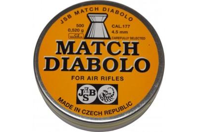 Пули для пневматики JSB Match Diabolo 4, 5мм 0, 52г матчевые пули