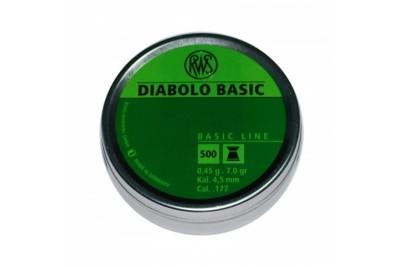 Пули для пневматики RWS Diabolo Basic 4, 5мм 0, 45г 500шт