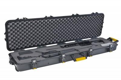 Кейс Plano на 2 оружия -138*40*15см. водонепроницаемый, 4 замка/6 запоров, клапан давления, колесики