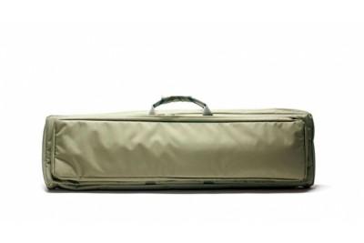 """Кейс VEKTOR из капрона зеленый с пенополиэтиленом и креплением оружия системой """"молле"""" с рюкзачн. лямками и доп. отд"""