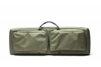 """Кейс VEKTOR из капрона зеленый с пенополиэтиленом и креплением  """"молле"""" с двумя карманами"""