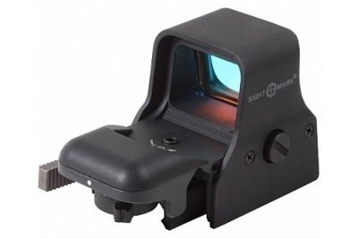 коллиматор Sightmark панорамный, 4 прицельные марки, 5 степеней яркости, цвет - красный, быстросъемн. Weaver