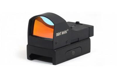 Прицел коллиматорный Sightmark Mini панорамный, 2 ур. яркости подсветки, крепление на Weaver